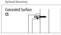 Concealed Surface Mounting