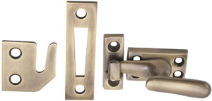 Emtek Casement Window Latches Small in French Antique 8703US7  sc 1 st  Door Hardware Etc & Emtek 8703 Casement Window Latch Small