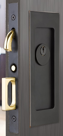 Emtek Keyed Pocket Door Modern Mortise Lock
