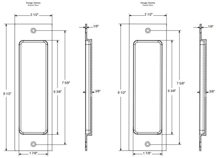 Genial Emtek Sandcast Bronze Rustic Modern Dummy Pocket Door Mortise Lock Specs