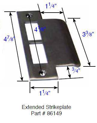 Emtek 86149 Extended Mortise Strike Plate