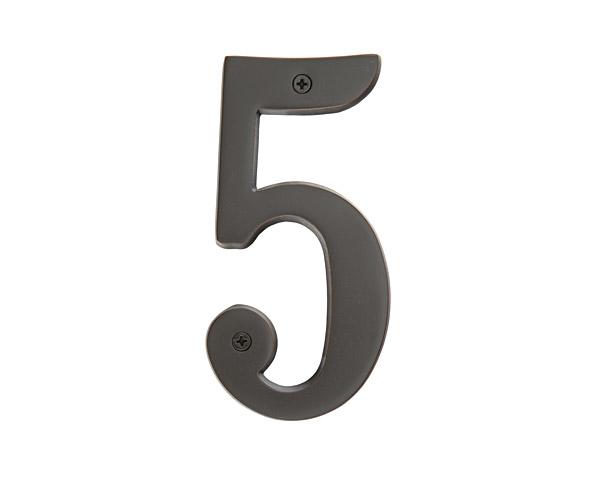 4 House Numbers Oil Rubbed Bronze