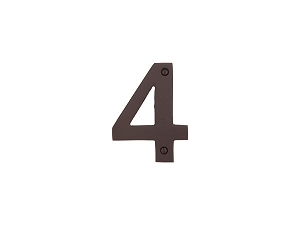 Emtek 2814 Bronze House Number 4 - 4