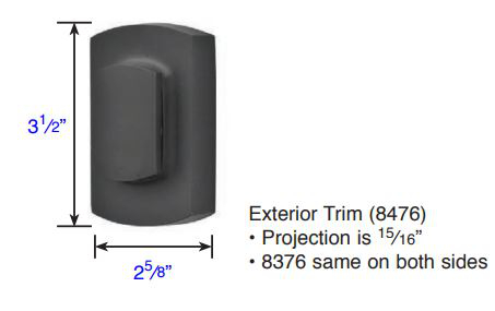 Emtek Sandcast Bronze Ridgemont Double Cylinder Deadbolt 8376