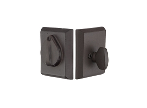 Emtek 8465 Sandcast Bronze # 3 Single Cylinder Deadbolt