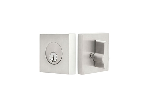 Emtek S50003 Stainless Steel Square Single Cylinder Deadbolt