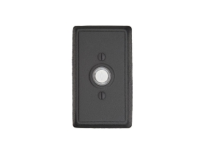 Emtek 2433 Wrought Steel #3 Rosette Doorbell