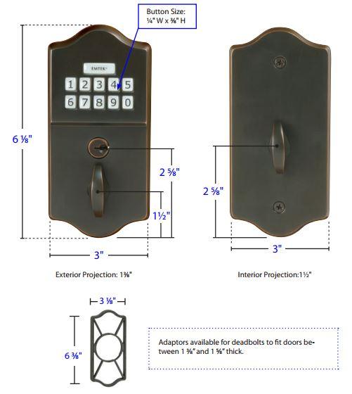 Emtek Classic Style Electronic Keypad Deadbolt E1000