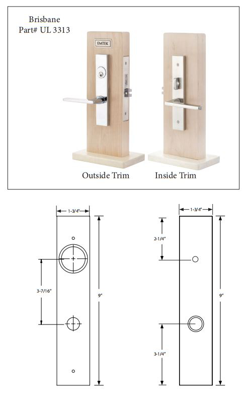 Emtek Brisbane Knob By Knob And Lever By Lever Mortise
