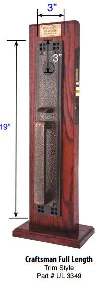 Emtek Craftsman Full Length Mortise Handleset 3349