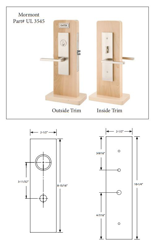 Emtek 3545 Mormont Knob By Knob And Lever By Lever Mortise