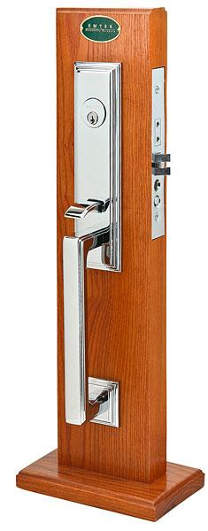 Modern Exterior Door With Multi Point Locks 4 Door Lites: Emtek Manhattan Mortise Handleset 3306