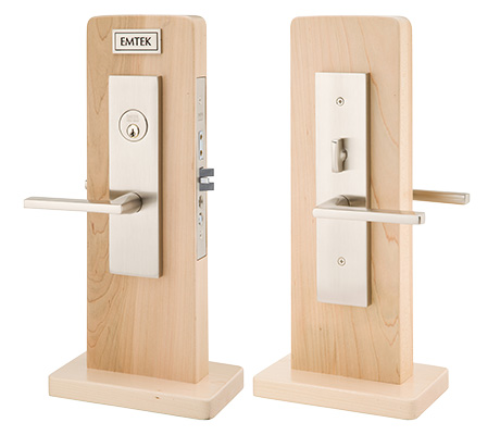 Emtek Mormont Knob By Knob And Lever By Lever Mortise Handleset With Helios  Lever In Satin Nickel 3545US15