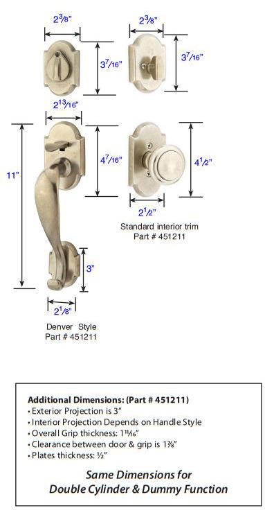 Emtek Denver Tubular Handleset 451211