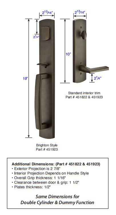 Emtek Brighton Tubular Handleset 451923