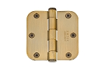Emtek Solid Brass 3.5 X 3.5 - 5/8 Radius Residential Hinges-Pair