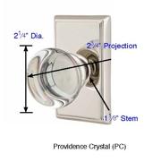Emtek Providence Crystal Knob Specs