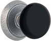Emtek Wrought Steel and Porcelain Madison Black Knob