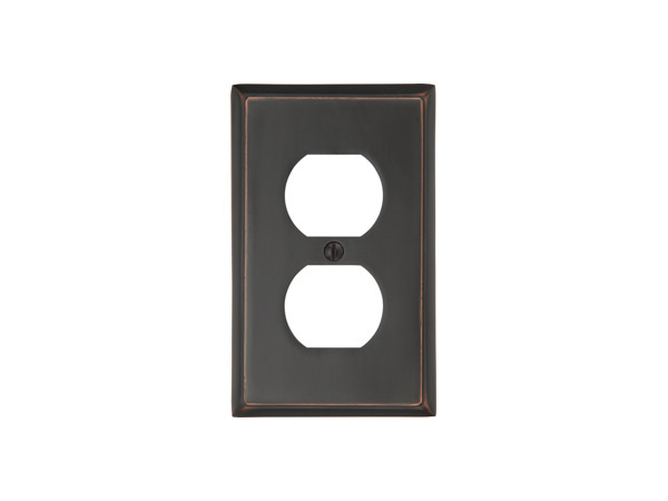 Emtek 29131 colonial single duplex switch plate for Outlet colonial