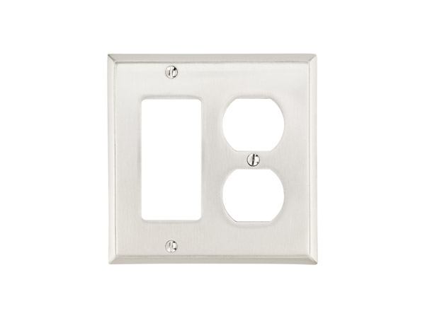 Emtek colonial single rocker single duplex switch plate 29143 for Outlet colonial