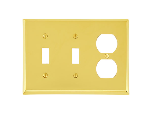 Emtek colonial double toggle single duplex switch plate 29142 for Outlet colonial
