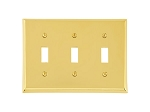 Emtek 29113 Colonial Triple Toggle Switch Plate