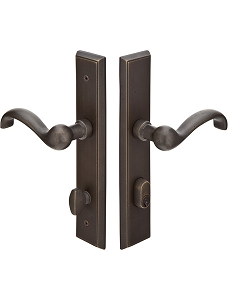 Emtek Sandcast Bronze Rectangular Multi Point Lock 1