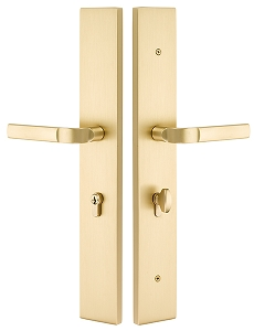 Emtek 2LR1 Modern Rectangular Large Multi Point Lock Euro Cylinder Below Handle
