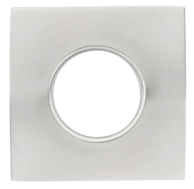 Emtek Key in Lock Brass Square Rosette