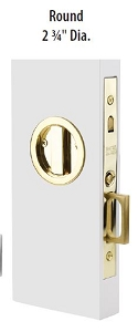 Emtek 2175 Round Privacy Pocket Door  Mortise Lock