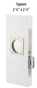 Emtek 2185 Square Privacy Pocket Door  Mortise Lock