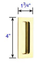 220304 Emtek Modern Rectangular Flush Pull 4 Inch Specs
