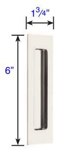 220306 Emtek Modern Rectangular Flush Pull 6 Inch Specs