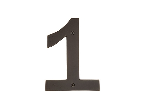 Emtek 2821 Bronze House Number 1 - 6