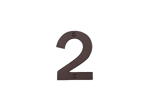 Emtek 2812 Bronze House Number 2 - 4