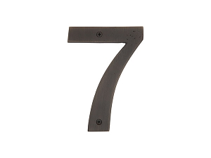 Emtek 2827 Bronze House Number 7 - 6