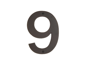 Emtek 2829 Bronze House Number 9 - 6