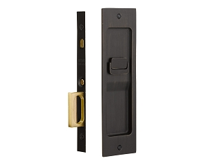 Emtek 2125 Sandcast Bronze Rustic Modern Privacy Pocket Door Mortise Lock