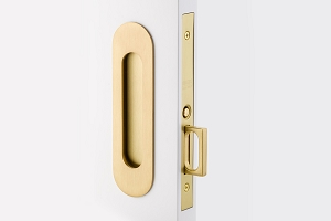 Emtek 2164 Narrow Oval Passage Pocket Door Mortise Lock