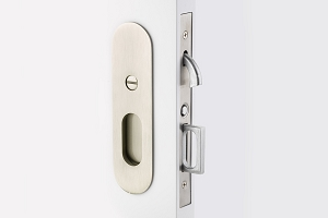 Emtek 2165 Narrow Oval Privacy Pocket Door  Mortise Lock