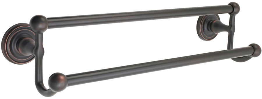 Emtek 26033 Brass Double Towel Bar 30
