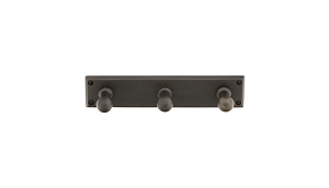 Emtek 2307 Sandcast Bronze Triple Post Hooks with Rectangular Rosette