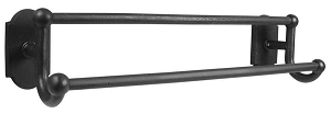 Emtek 23051 Sandcast Bronze Double Towel Bar 18