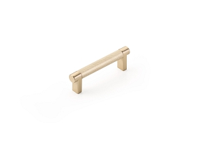 Emtek 84052 Rectangular Stem Knurled Bar Cabinet Pull 3 1/2