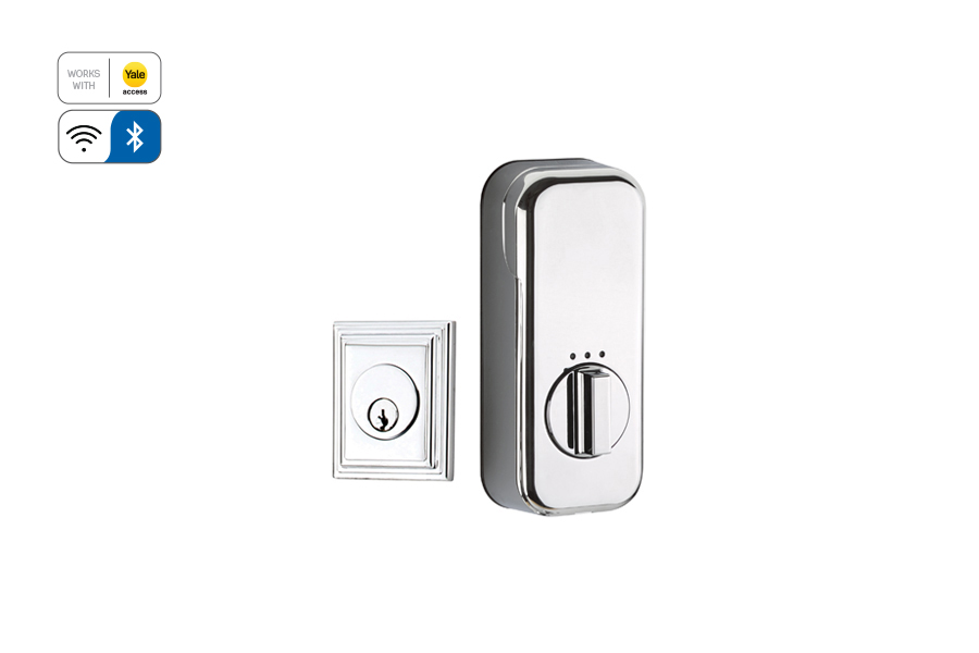 Emtek EMP8479 Wilshire Single Cylinder Deadbolt with EMPowered Motorized Smart Lock Upgrade