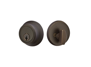 Emtek 8450 Sandcast Bronze Regular #2 Single Cylinder Deadbolt