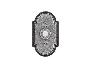 Emtek 2431 Wrought Steel #1 Rosette Doorbell