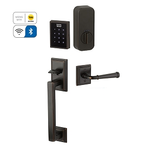 Emtek EMP1106 EMPowered Motorized Touchscreen Keypad Smart Hamden Grip Handleset