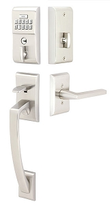 Emtek E4817 Modern Style Electronic Keypad Handle Set