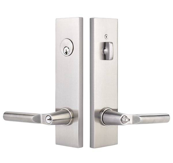 Emtek 5312 Modern Rectangular Two Point  Single Cylinder Lock